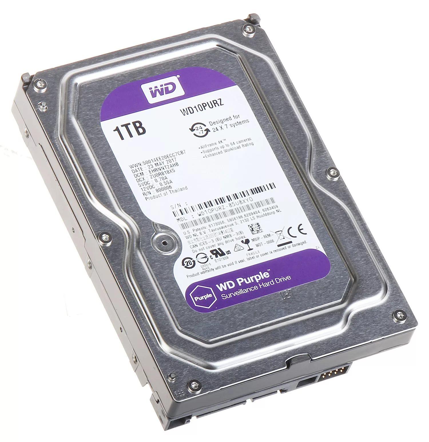 Жесткий диск WD Purple 1TB