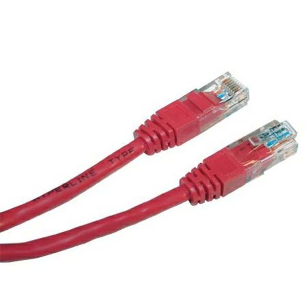 Патч-корд UTP, cat.5e, 0.3м, красный